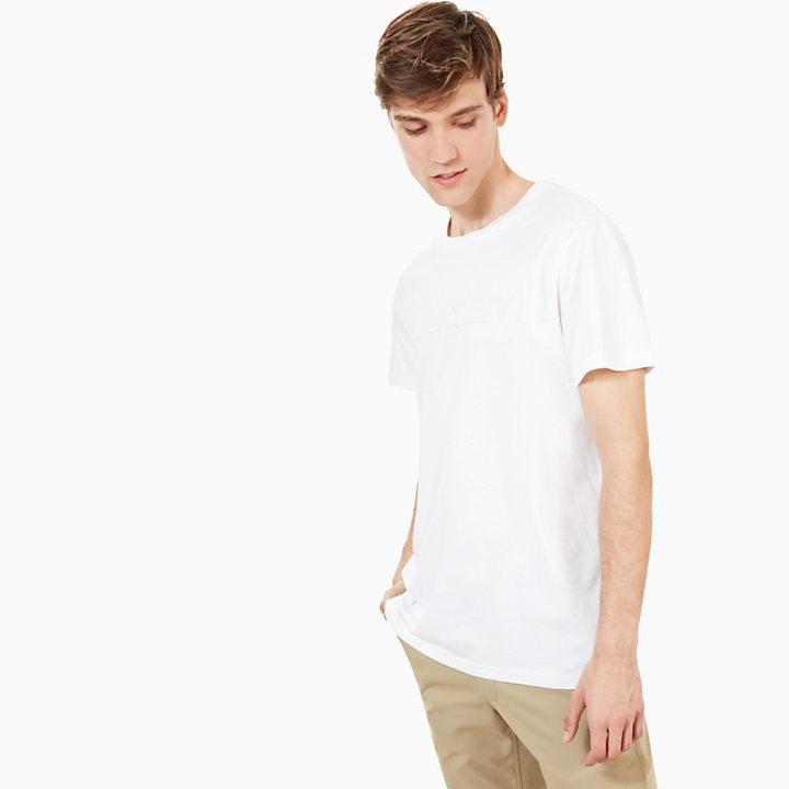 Kennebec River Embossed T-Shirt for Men in White-