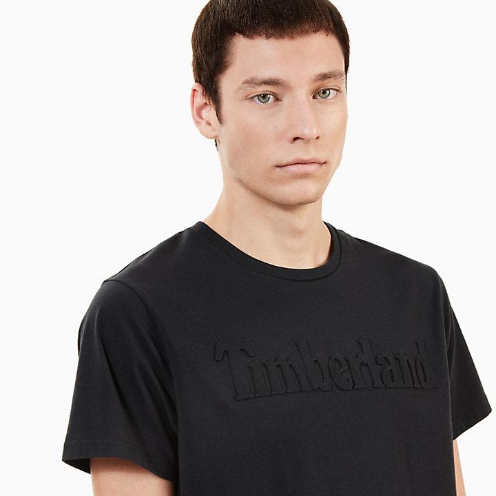Kennebec River Embossed T-Shirt for Men in Black-