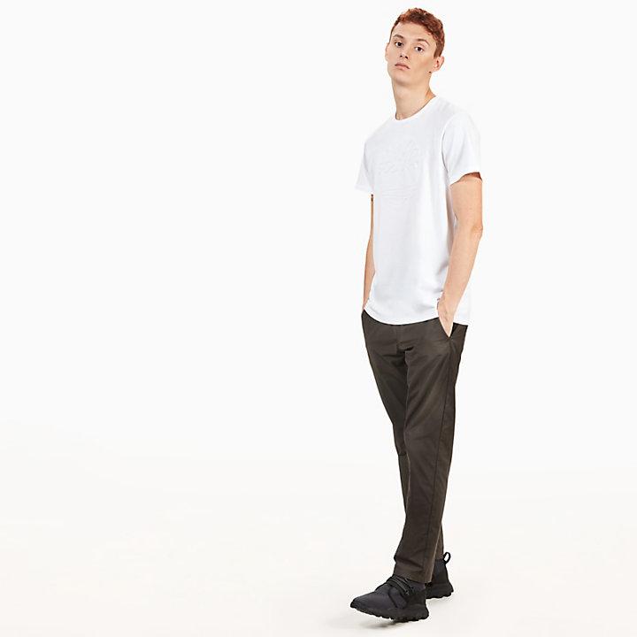 Camiseta con Árbol Repujado Kennebec River para Hombre en Blanco-