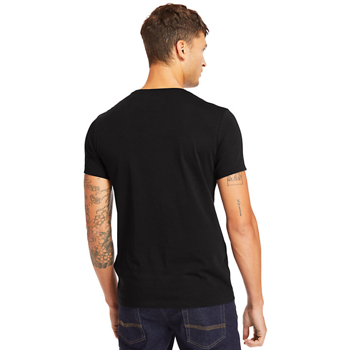 T-shirt Supima® Cocheco River pour homme en noir-