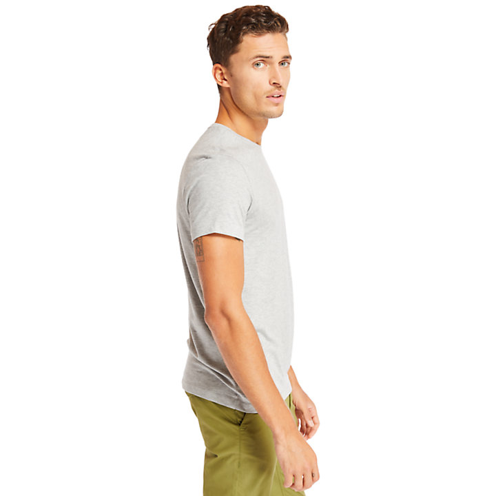 Deer River Supima® Cotton T-shirt for Men in Grey-