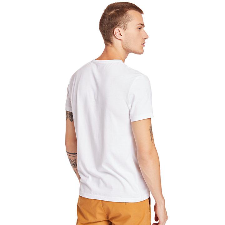 T-shirt da Uomo in Cotone Supima® Cocheco River in bianco-