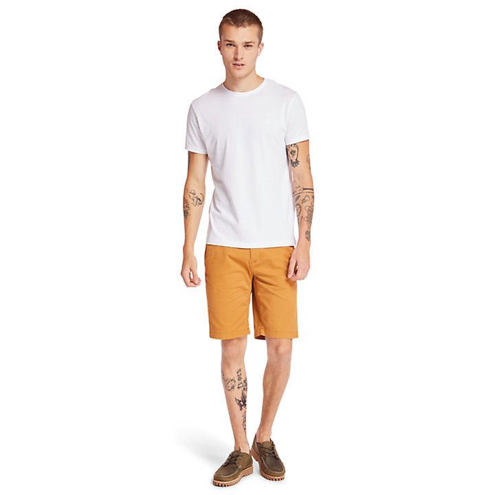 Camiseta en Algodón Supima® Cocheco River para Hombre en blanco-