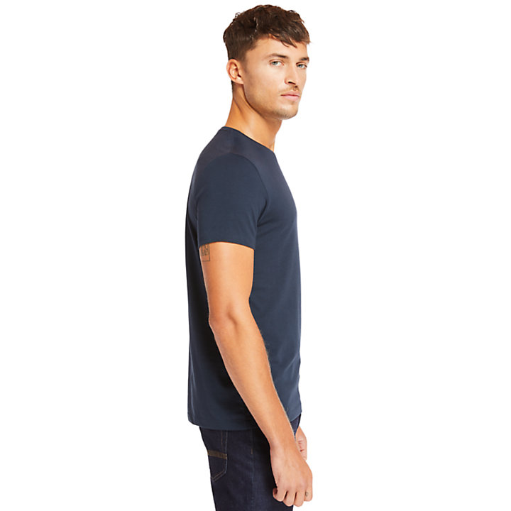 Deer River Supima® Cotton T-shirt for Men in Navy-