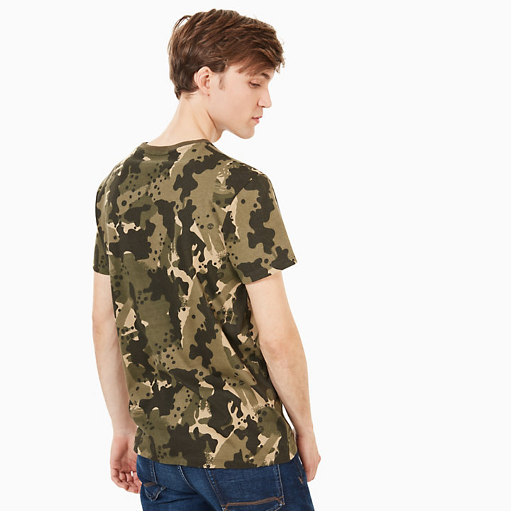 Kennebec River T-Shirt for Men in Green Camo-