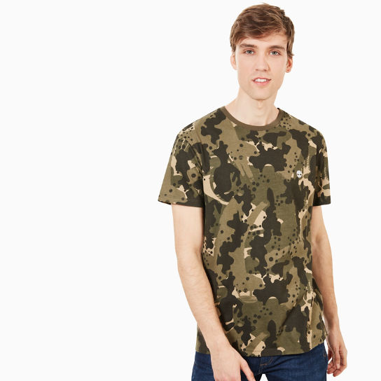 T-shirt Kennebec River pour homme en vert camouflage | Timberland