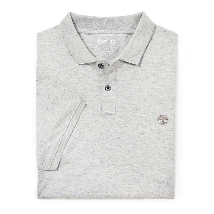 Cocheco River Supima® Cotton Polo for Men in Grey-