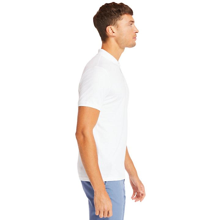 Polo da Uomo in Cotone Supima® Cocheco River in bianco-