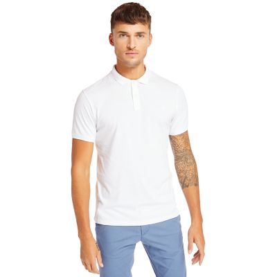 Cocheco+River+Supima%C2%AE+Cotton+Polo+for+Men+in+White