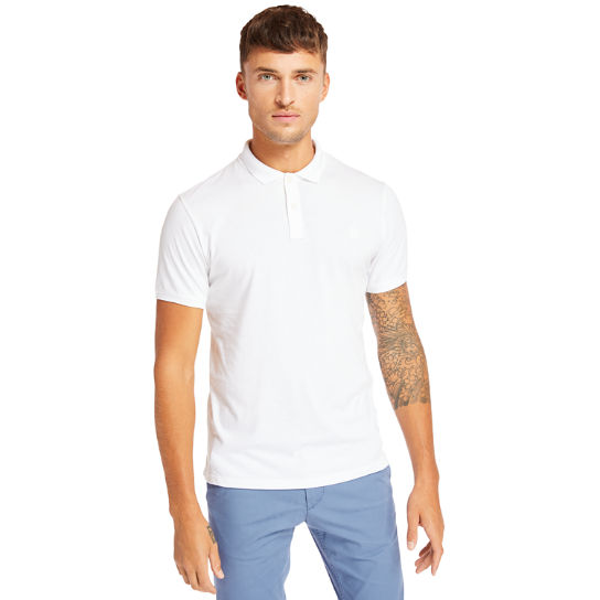 Cocheco River Supima® Cotton Polo for Men in White | Timberland