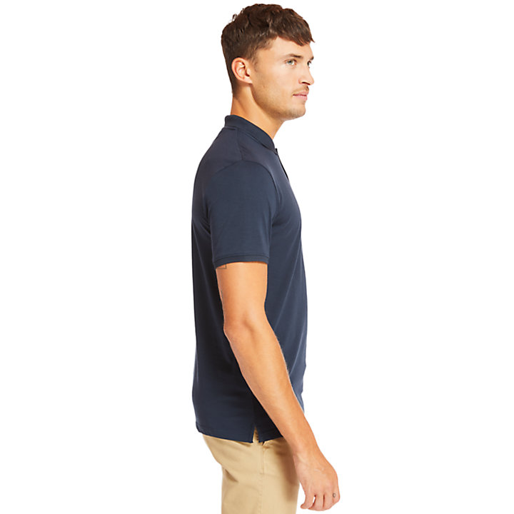 Cocheco River Supima® Cotton Polo for Men in Navy-