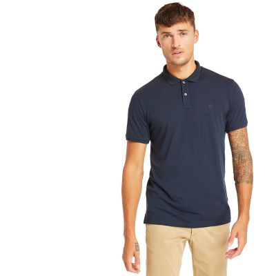 Cocheco+River+Supima%C2%AE+Cotton+Polo+for+Men+in+Navy