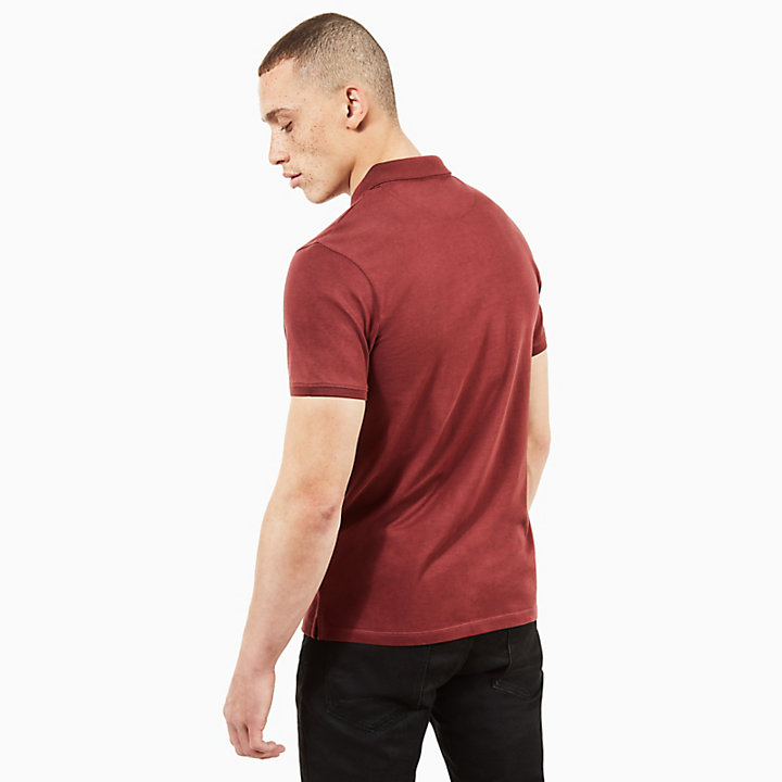 Cocheco River Supima® Cotton Polo for Men in Burgundy-