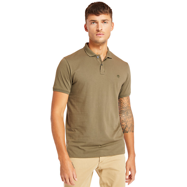 Cocheco River Supima® Cotton Polo Shirt for Men in Green-