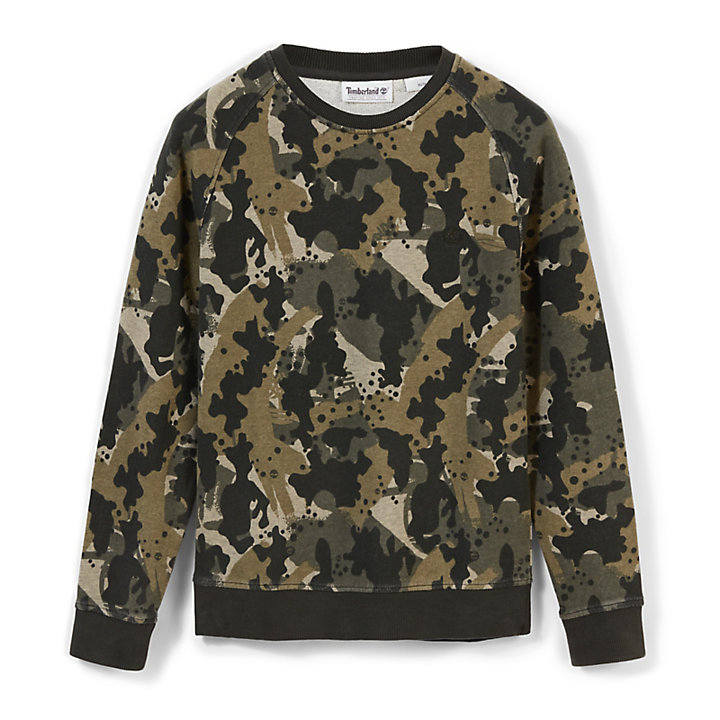 Sucker Brook Sweatshirt for Men in Green Camo-