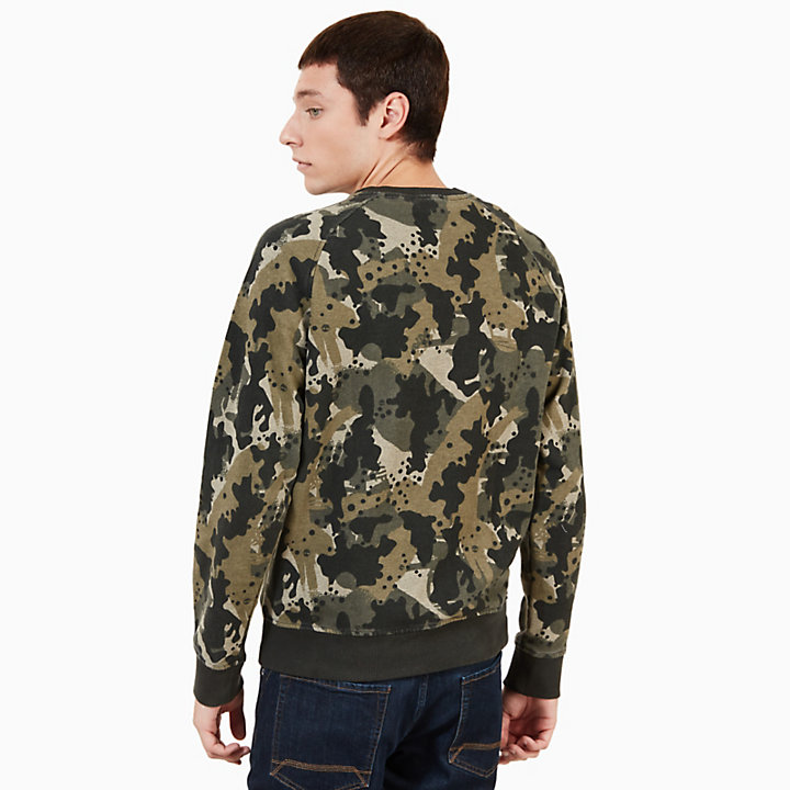 Sucker Brook Sweatshirt Heren in Groen Camo-