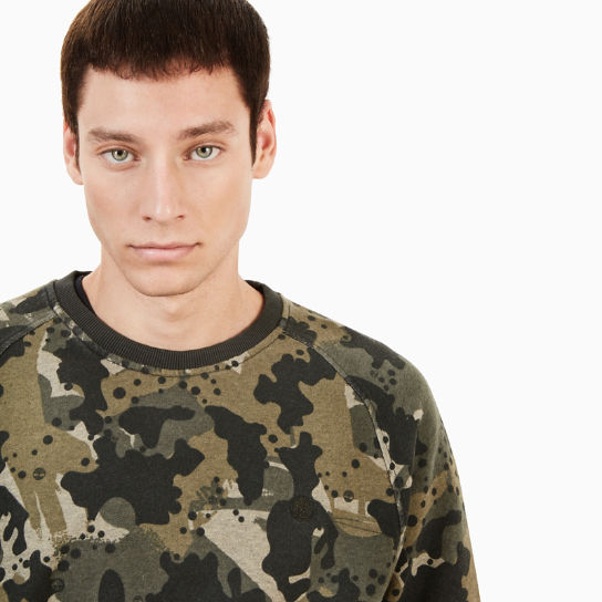 Sucker Brook Sweatshirt Heren in Groen Camo | Timberland