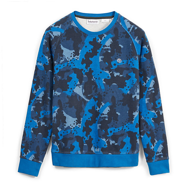 Sweat Sucker Brook pour homme en bleu camouflage-