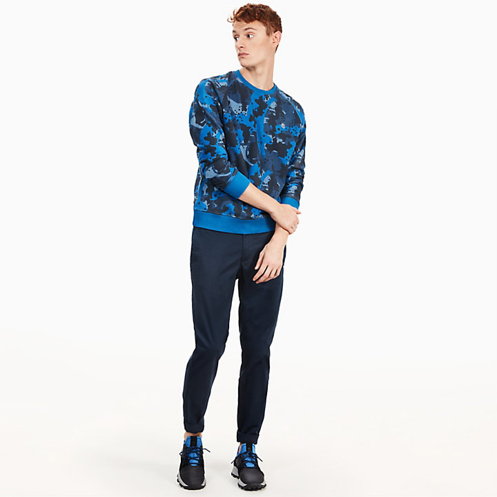 Sucker Brook Sweatshirt for Men in Blue Camo-