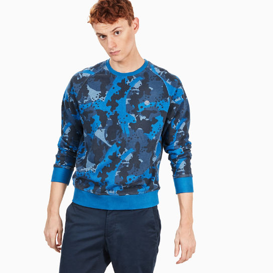 Sweat Sucker Brook pour homme en bleu camouflage | Timberland