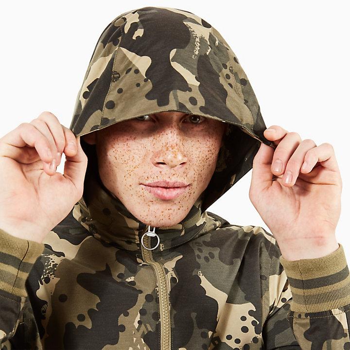 Giacca Bomber in Pelle da Uomo Mt Kearsage Verde Mimetico-
