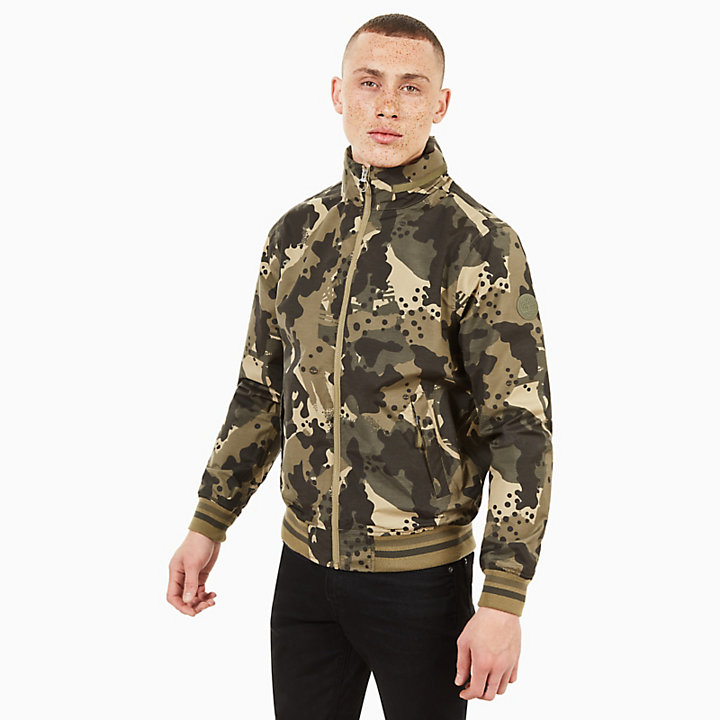 Mt Kearsage Bomber Jacket for Men in Green Camo-
