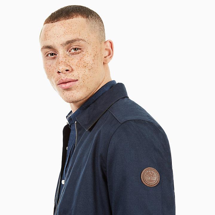 Stratham Cotton Bomber Jacket for Men in Navy-