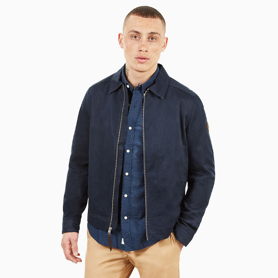 Stratham Cotton Bomber Jacket for Men in Navy | Timberland