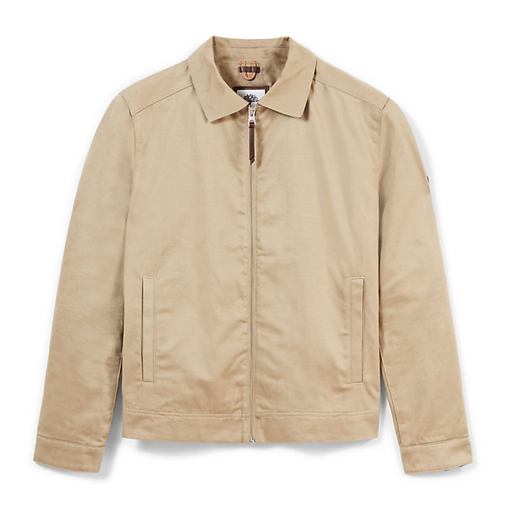 Stratham Cotton Bomber Jack Heren in Beige-