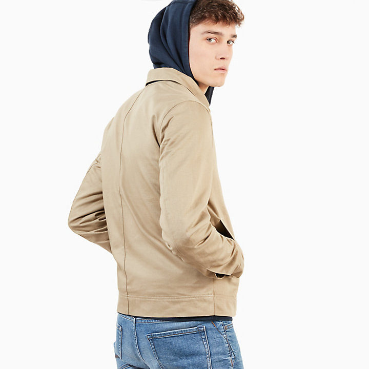Stratham Cotton Bomber Jacket for Men in Beige-