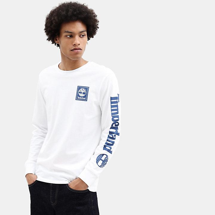 Timberland® T-Shirt mit Baum-Logo für Herren in Weiß-
