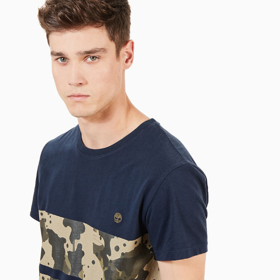 Kennebec River Print T-Shirt for Men in Navy | Timberland