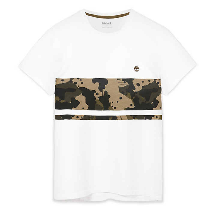 Kennebec River Print T-Shirt for Men in White Camo-
