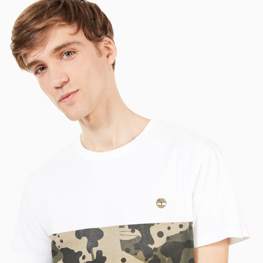 Kennebec River Print T-Shirt for Men in White Camo | Timberland