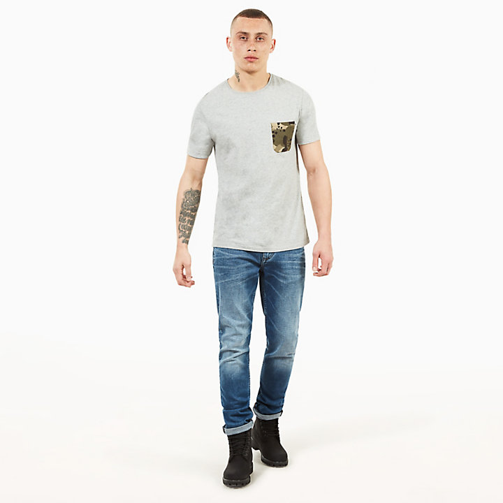 Kennebec River Pocket T-Shirt for Men in Grey-