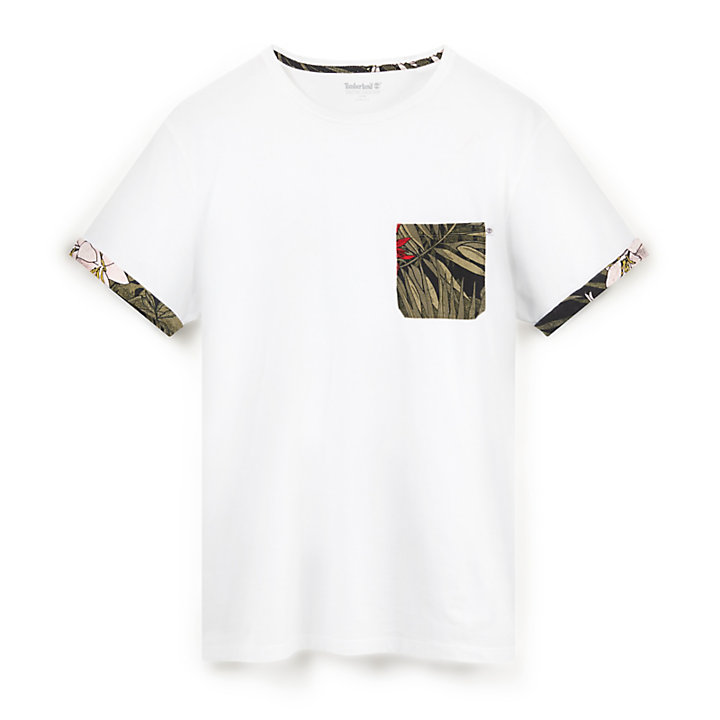 Kennebec River Pocket T-Shirt for Men in White-