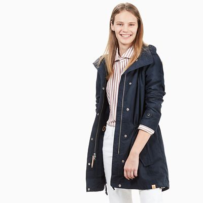 Parka+f%C3%BCr+Damen+in+Marineblau