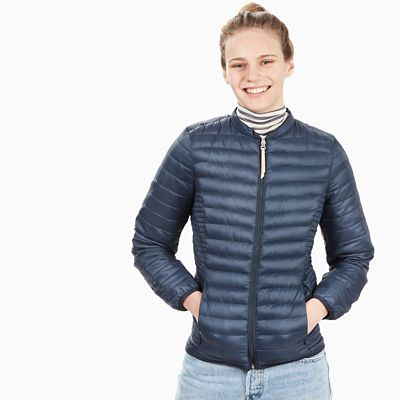 Steppjacke+f%C3%BCr+Damen+in+Marineblau