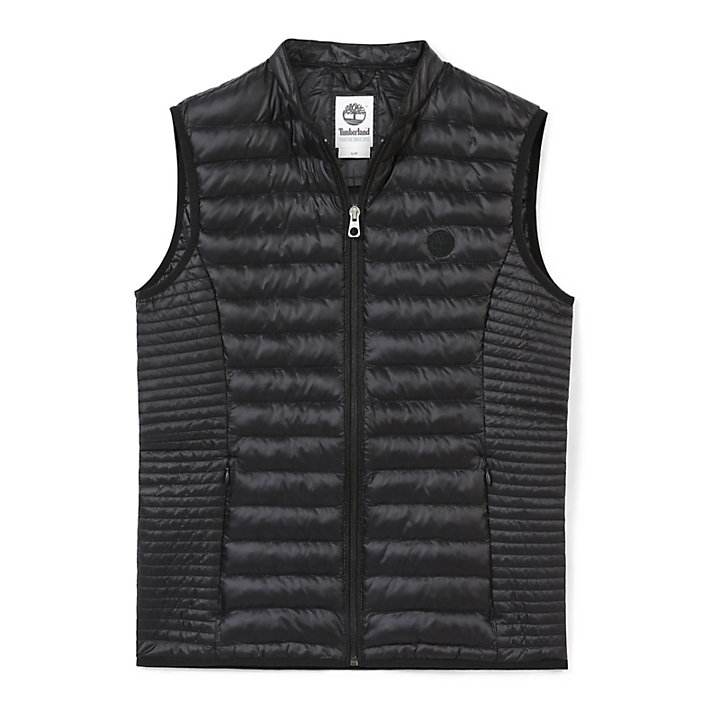Quilted Vest for Women in Black-