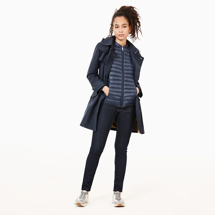 Quilted Vest for Women in Navy-