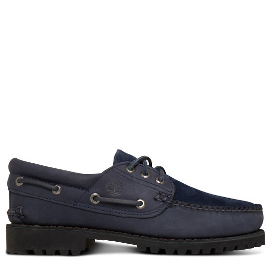 Herren Timberland® x Engineered Garments 3-Eye Lug Navyblau | Timberland