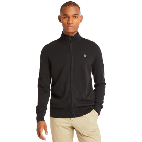 Williams River Zip Sweater for Men in Black | Timberland