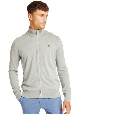 Williams+River+Cotton%C2%A0Zip+Up+Top+for+Men+in+Grey