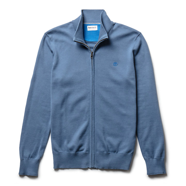 Williams River Zip Sweater for Men in Blue-