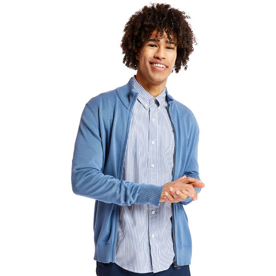 Williams River Zip Sweater for Men in Blue | Timberland
