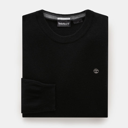 Merino Crew Neck Sweater for Men in Black | Timberland