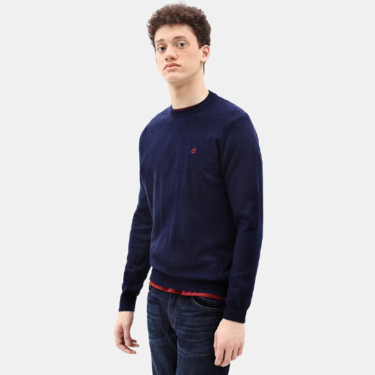 Merino Crew Neck Sweater for Men in Navy | Timberland