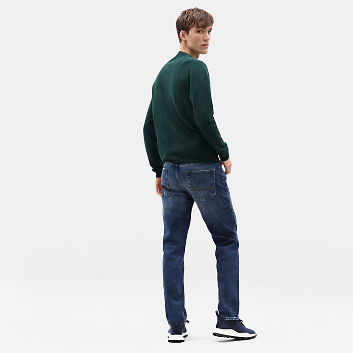 Merino Crew Neck Sweater voor Heren in groen-