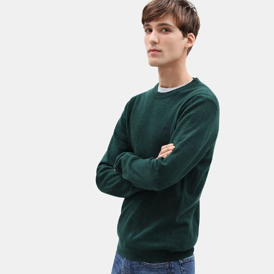 Merino Crew Neck Sweater for Men in Green | Timberland