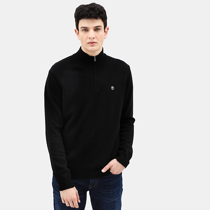 Cohas Brook Merino Zip Sweater for Men in Black-